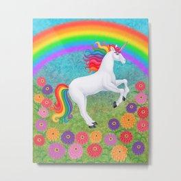 kismet (rainbow unicorn) Metal Print