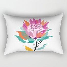 Protea Illustration; Botanical; Australian Native Rectangular Pillow