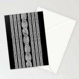Cable Stripe Black Stationery Cards