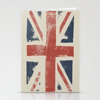union jack Stationery Cards featuring Union Jack by David Hand