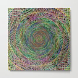 Multicolor fractal Metal Print