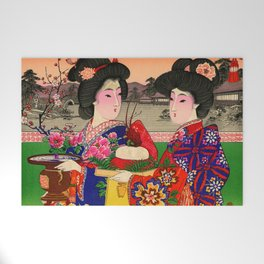Two Geishas Welcome Mat