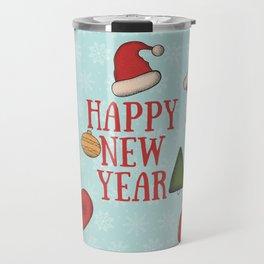 New Year, Cristmas, winter holidays Travel Mug