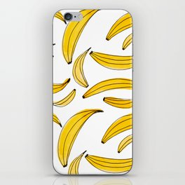 Watercolor bananas - yellow iPhone Skin