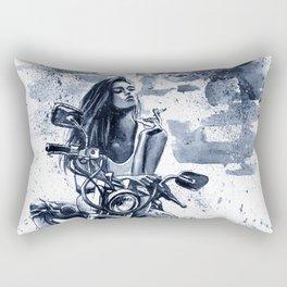 Biker Girl Rectangular Pillow