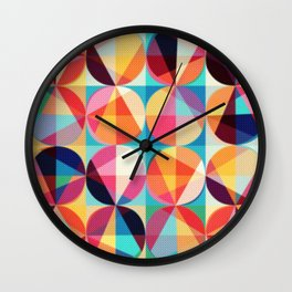 Circle pixelate Wall Clock