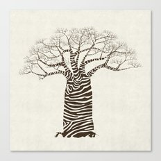 Zebra Tree Canvas Print