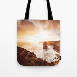 sunset at the twelve apostles Tote Bag