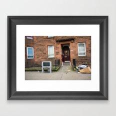 Surface Tension: 1541 Dumbarton Road Framed Art Print