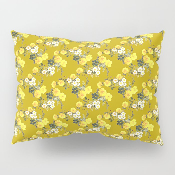 Mustard Floral Yellow Roses On Pillow Sham