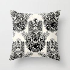Hamsa Hand Sloth Throw Pillow