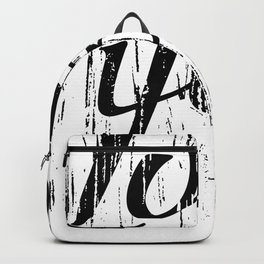 Letters calligraphy, love you, hand drawing Backpack