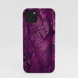 Wet: Purple iPhone Case