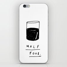 HALF FOOL iPhone & iPod Skin