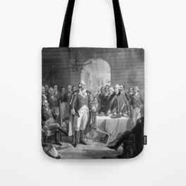 Washington Meeting His Generals Tote Bag