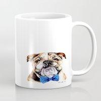 bulldog Mugs featuring bulldog by Heathercook