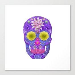 Flower Skull 5 Canvas Print