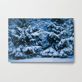 Winter Forest Christmas Tree Metal Print