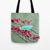 butterfly Tote Bags featuring butterfly by  Agostino Lo Coco