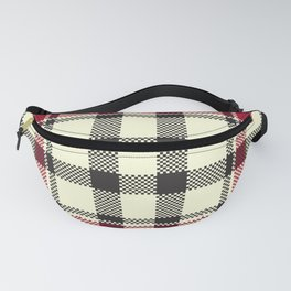 Pixelated Plaid Hatching Pattern  Fanny Pack