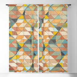 Triangles and Circles Pattern no.23 Blackout Curtain