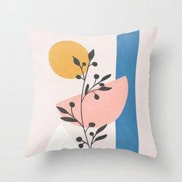 Blush Pink Shapes 01 Throw Pillow