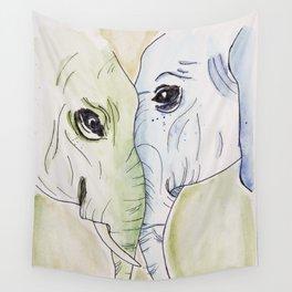 Elephant Friends Wall Tapestry