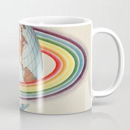 Psycho-harmonial philosophy - Peter Pearson - 1910  Rainbow Saturn Rings Around Earth Coffee Mug