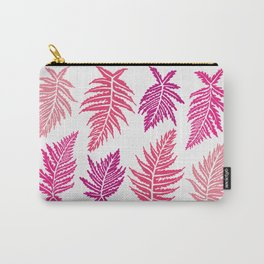 Inked Ferns – Blush Palette Carry-All Pouch