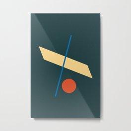 Mid Century Geometric Wall Art 1 Metal Print