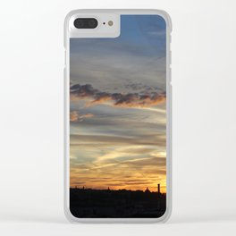 Golden Smoke Clear iPhone Case