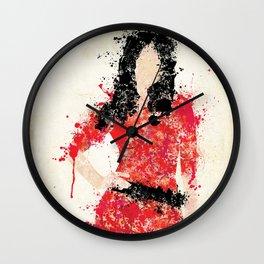 Clara Oswin Oswald - Spatter Artwork Wall Clock