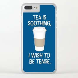 I wish to be tense (Blue) Clear iPhone Case