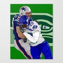 The Hardest Hit (Green) Canvas Print