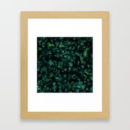 Dark Rich Teal Botanical Plant Abstract Framed Art Print