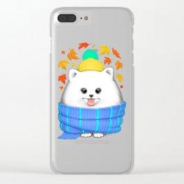 Autumn spitz Clear iPhone Case
