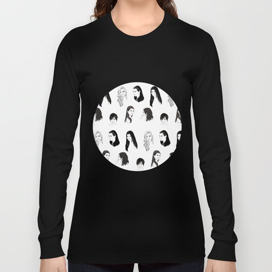 Keeping Up (Black and White) Long Sleeve T-shirt