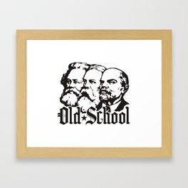 Old School Communism Framed Art Print