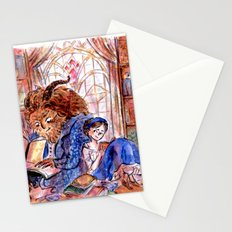 Beauty and the Beast's Library Stationery Cards