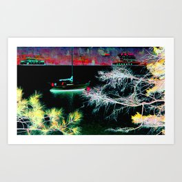In For The Night Art Print