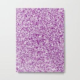 Tiny Spots - White and Purple Violet Metal Print