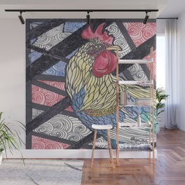 Fighting Rooster Wall Mural