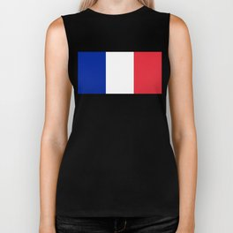 Flag of France, Authentic color & scale Biker Tank