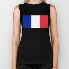 Flag of France, Authentic color & scale Biker Tank