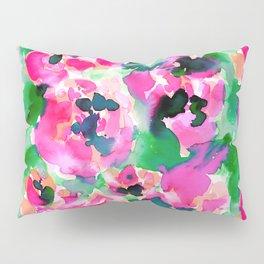 Abstract Flora Green Pillow Sham