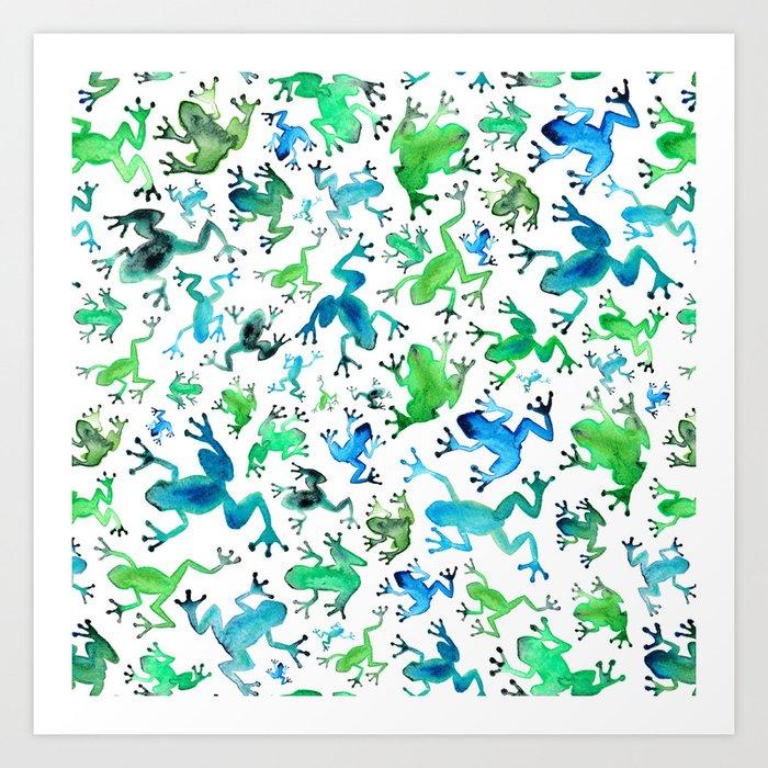 Tree Frogs Art Print