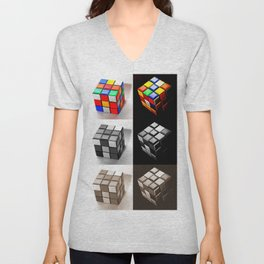 Rubiks Cube Unisex V-Neck