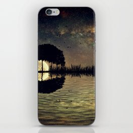 guitar island moonlight iPhone Skin