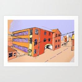 Spode Factory Art Print