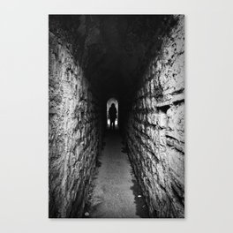 The Silhouette at the End of the Tunnel Canvas Print